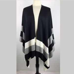 Calvin Klein Colorblocked Sweater Poncho